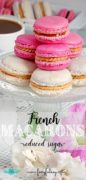 Recipe for French Macarons with reduced sugar.