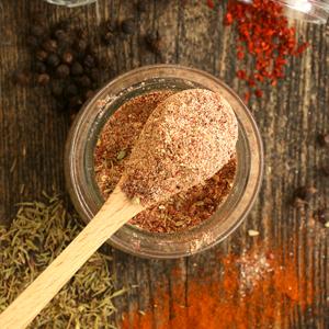 Homemade Cajun Seasoning in a jar