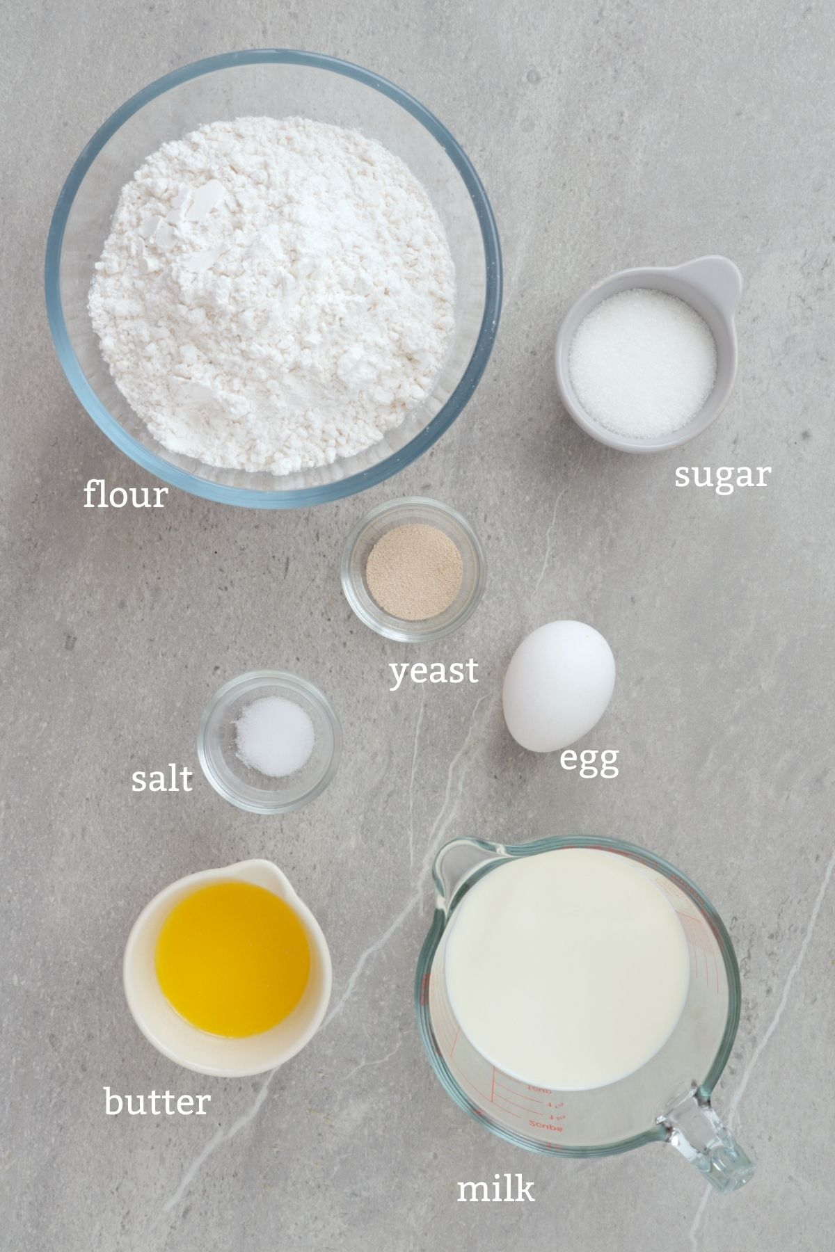 Ingredients for making Shaky or Bicho-bicho
