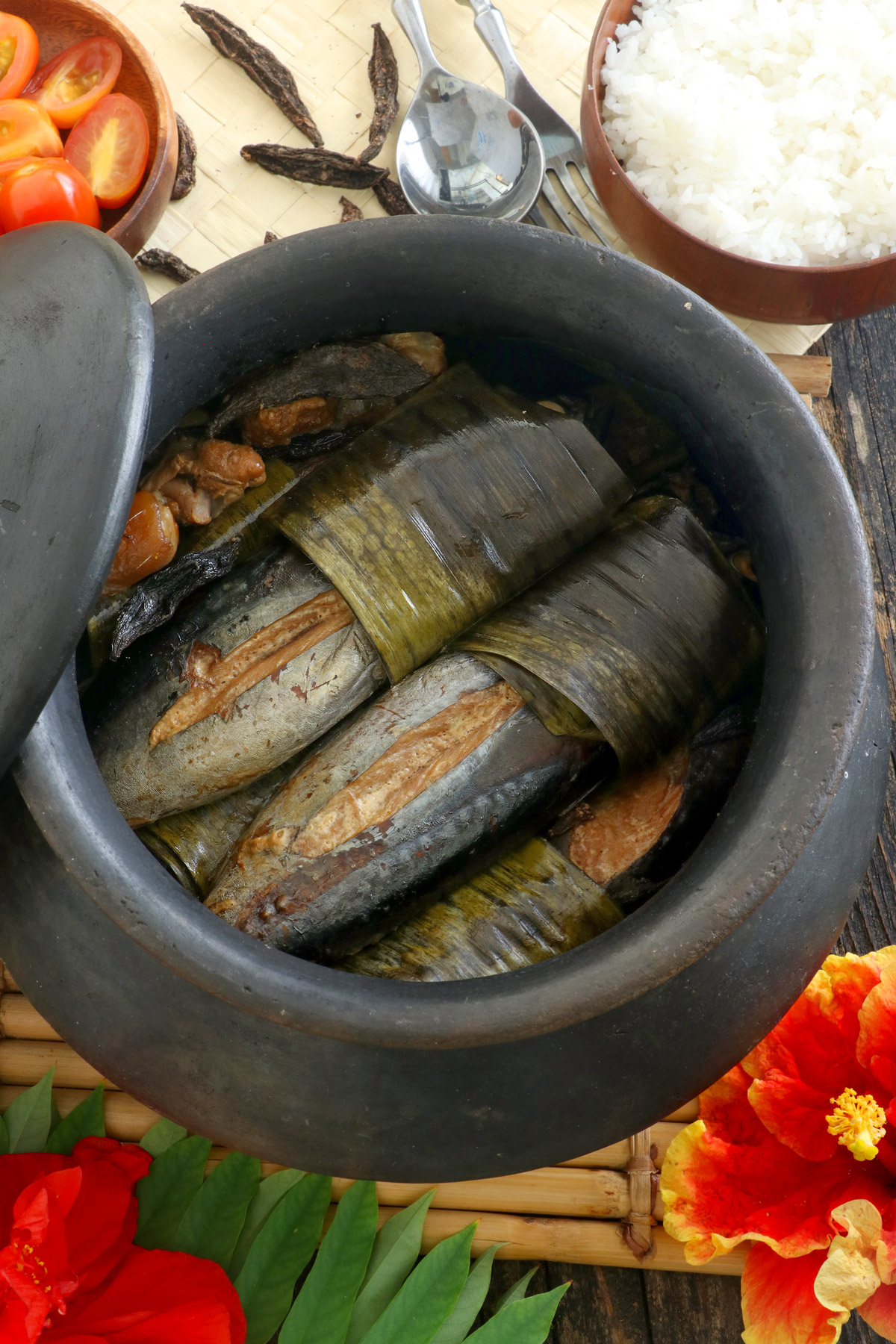 Sinaing na Tulingan cooked in a claypot