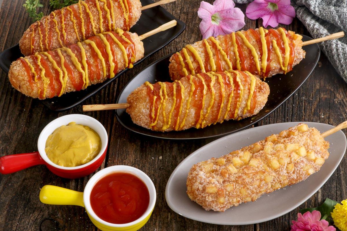 Korean Corn Dog with French Fries Recipe - Gamja Hotdogs
