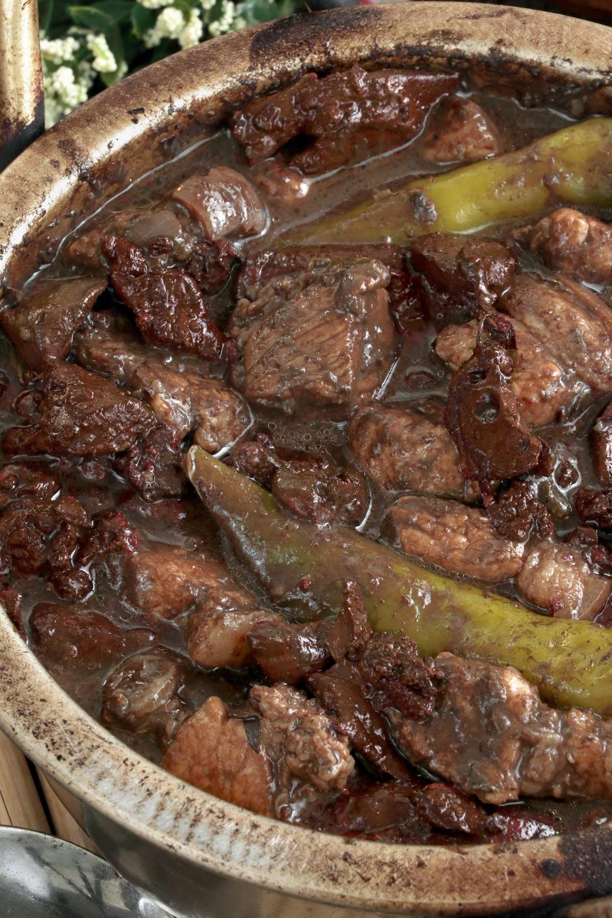 Filipino pork blood stew.