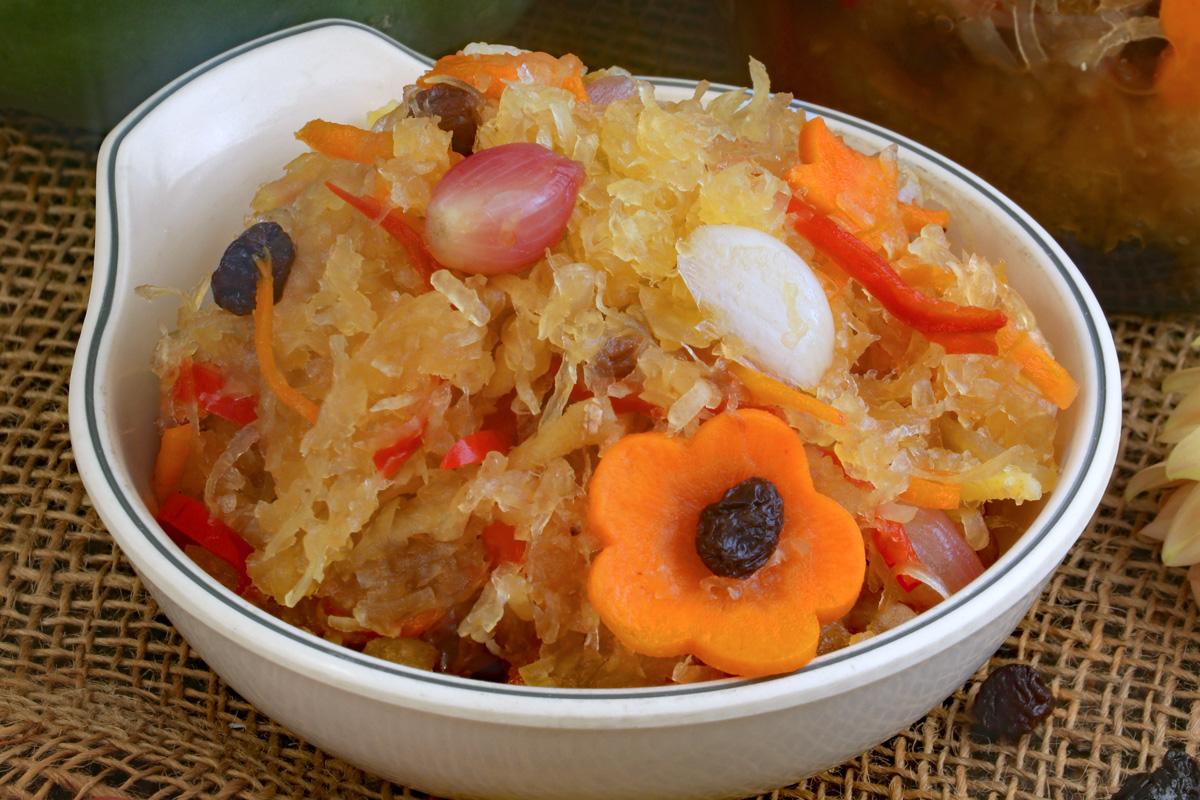 Achara in a bowl.