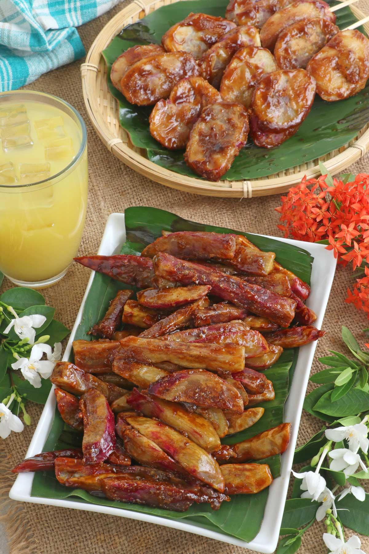 Kamote Cue and Kamote Fries