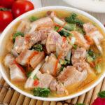 Kinamatisang Baboy- Pork soup with tomatoes and bok choy.