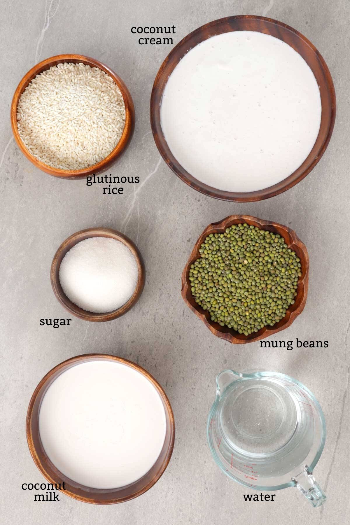Ingredients for making Ginataang Munggo