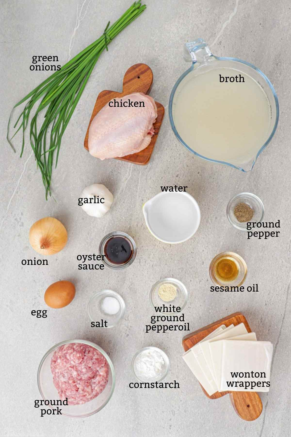 Ingredients for Pancit Molo
