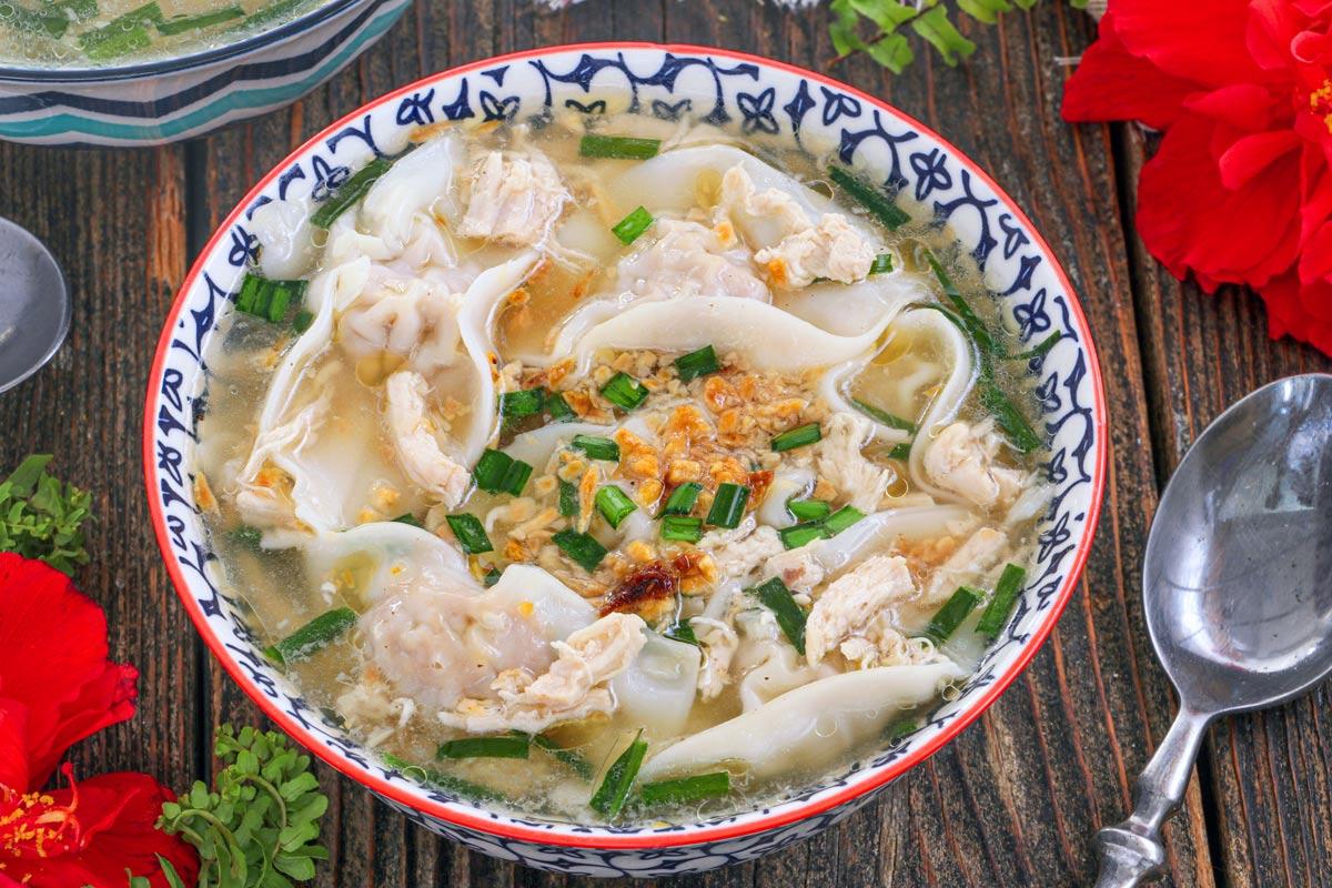 A bowl of hearty Molo Soup.